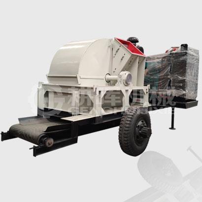 大型移动柴油粉沫机移动移动柴油树枝木屑粉碎